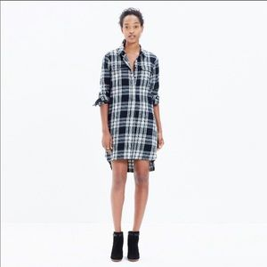 Madewell flannel plaid dress